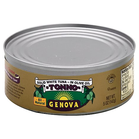 Genova Tuna Albacore Solid White in Olive Oil - 5 Oz