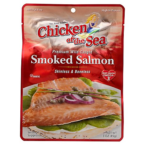 Chicken of the Sea Salmon Smoked Premium Wild-Caught Skinless & Boneless - 3 Oz