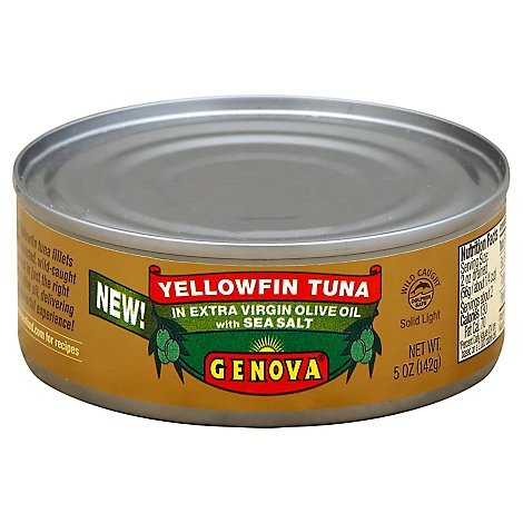 Genova Tuna Yellowfin Solid Light in Extra Virgin Olive Oil - 5 Oz
