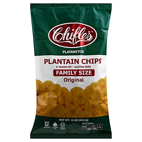 Chifles Chips Plantain Dried Bag - 16 Oz
