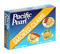Pacific Pearl Clams Smoked Fancy Whole - 3.75 Oz