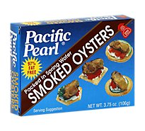 Pacific Pearl Oysters Smoked Packed in Spring Water - 3.75 Oz