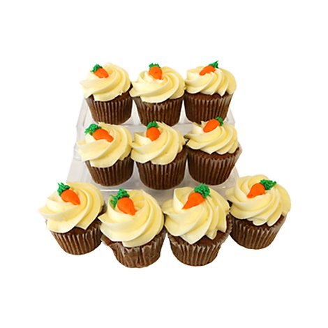 Bakery Cupcake Carrot 10 Count - Each