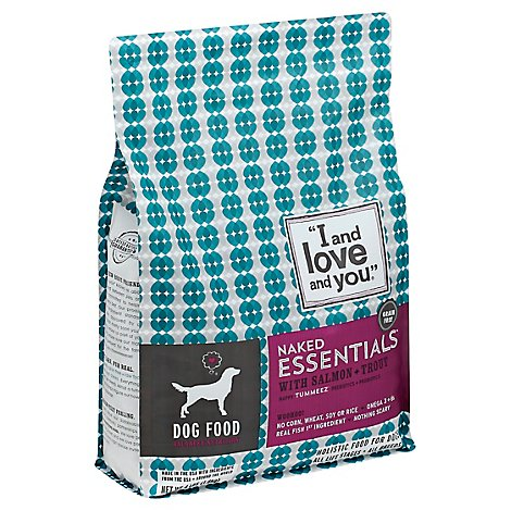 I And Love And You Naked Essentials Dog Food Salmon & Trout Bag - 4 Lb