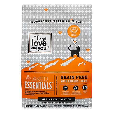 I And Love And You Cat Food Naked Essentials Chicken & Duck - 3.4 Lb