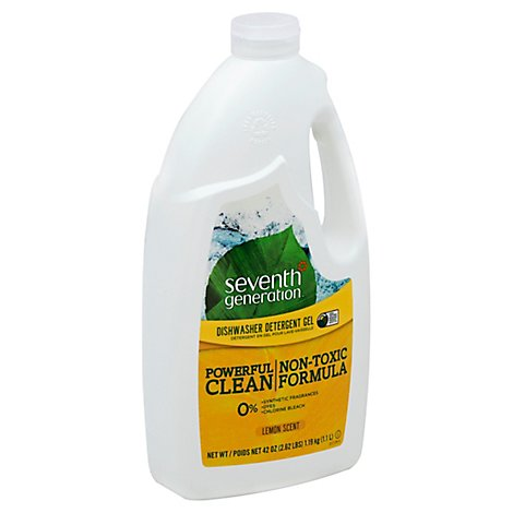 Seventh Generation Dishwasher Detergent Gel Powerful Clean Lemon Scent - 42 Oz