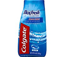 Colgate Toothpaste Anticavity Fluoride Max Fresh With Whitening Breath Strips Cool Mint - 4.6 Oz