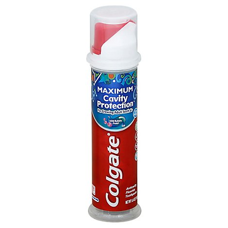Colgate Toothpaste Anticavity Fluoride Mild Bubble Fruit Gel - 4.4 Oz