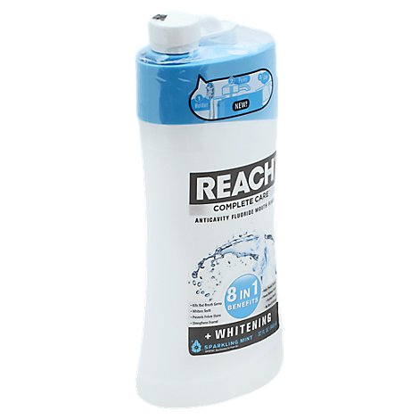 REACH Complete Care Teeth Whitening Anti-Cavity 8-In-1 Benefits Sparkling Mint - 32 Fl. Oz.