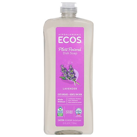 ECOS Dishmate Dish Liquid Lavender Bottle - 25 Fl. Oz.