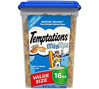 Temptations Treats for Cats MixUps Surfers Delight Tuna Shrimp & Salmon Flavors Tub - 16 Oz