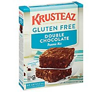 KRUSTEAZ Brownie Mix Supreme Gluten Free Thick & Creamy Double Chocolate Box - 20 Oz