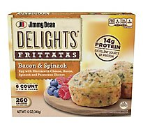 Jimmy Dean Delights Frittatas Bacon & Spinach 6 Count - 12 Oz