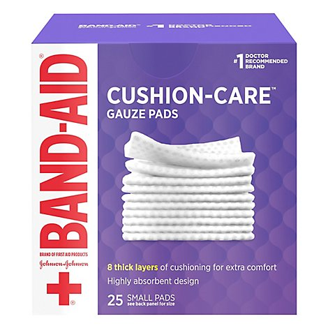BAND-AID Gauze Pads Small - 25 Count