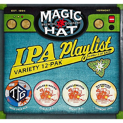 Magic Hat Ipa Playlist Variety In Bottles - 12-12 Fl. Oz.