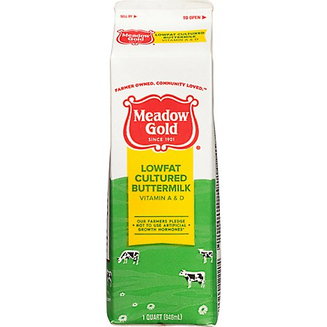 Meadow Gold Cultured Lowfat Buttermilk - Quart