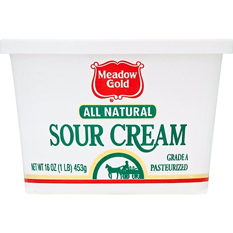 Meadow Gold All Natural Sour Cream - 16 Oz