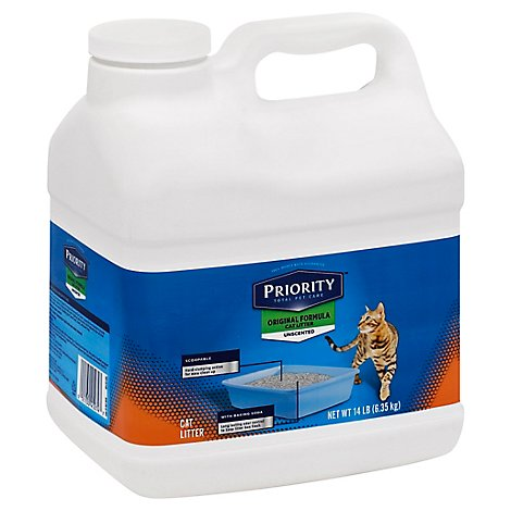 Signature Pet Care/Priority Cat Litter Unscented Original Formula - 14 Lb
