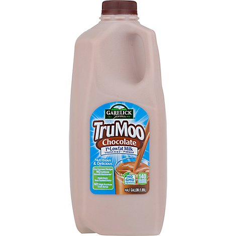 TruMoo Milk Lowfat 1% Milkfat Chocolate - Half Gallon