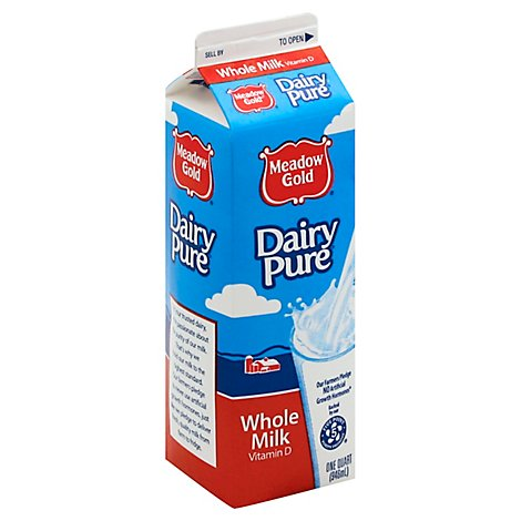 DairyPure Whole Milk With Vitamin D - 1 Quart