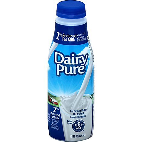 Dairy Pure Milk Reduced Fat 2% - 14 Fl. Oz.