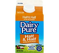Oak Farms Dairy DairyPure Half & Half Ultra-Pasteurized - 1 Pint