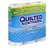 Quilted Northern Bathroom Tissue Ultra Soft & Strong Mega Roll 352 2-Ply Sheets Wrapper - 12 Roll