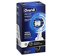 Oral-B Pro 500 Precision Clean Rechargeable Toothbrush Powered By Braun - Each