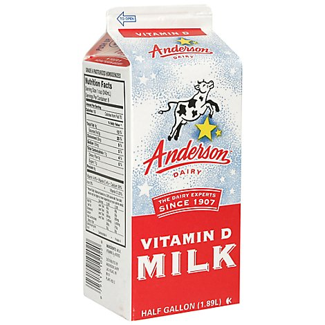Anderson Whole Milk - Half Gallon