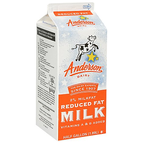 Anderson 2% Reduced Fat Milk - Half Gallon