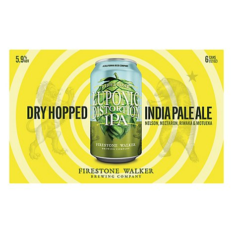Firestone Walker Beer India Pale Ale Luponic Distortion Hop Series Cans - 6-12 Fl. Oz.