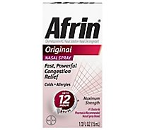 Afrin Nasal Spray Maximum Strength Original - 0.5 Fl. Oz.
