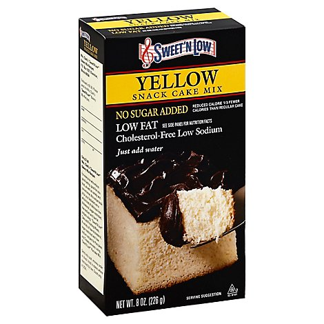 Sweet N Low Cake Mix Snack Yellow - 8 Oz