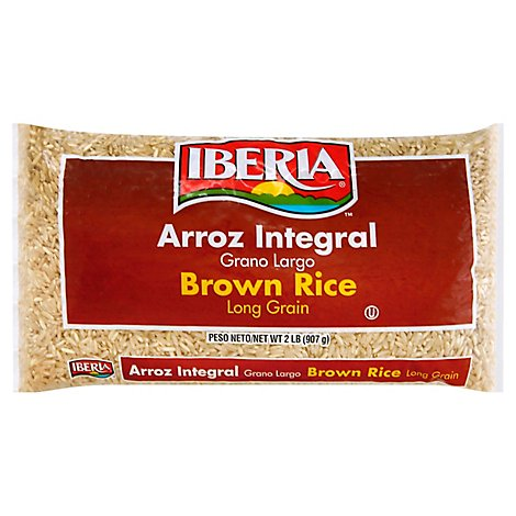 Iberia Rice Brown Long Grain Bga - 2 Lb