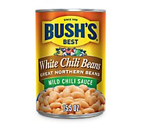 BUSHS BEST Beans Chili Great Northern Beans in White Chili Sauce Mild - 15.5 Oz