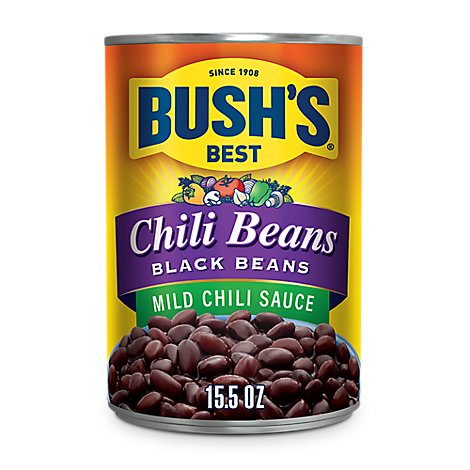 Bushs Beans Chili Black Beans in Chili Sauce Mild - 15.5 Oz