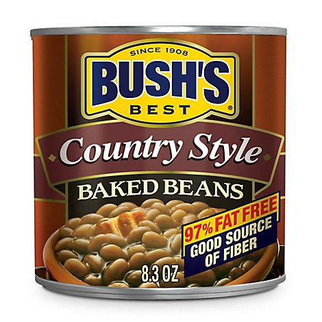 BUSHS Beans Baked Country Style - 8.3 Oz