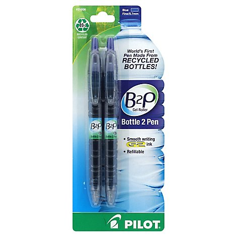 Pilot B2p Pen Gel Fine Blue - 2 Count