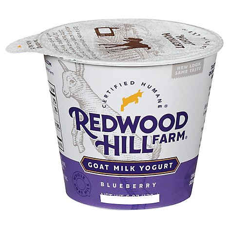 Redwood Hill Farm Yogurt Goat Milk Bluebry - 6 Oz