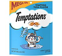 Whiskas Temptations Cat Treats Tempting Tuna Flavor Mega Pouch - 6.3 Oz