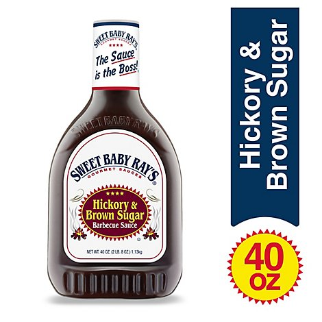 Sweet Baby Rays Sauce Barbecue Hickory & Brown Sugar Squeezable - 40 Oz