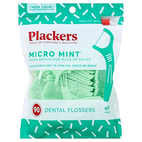 Plackers Micro Mint Flossers - 90 Count