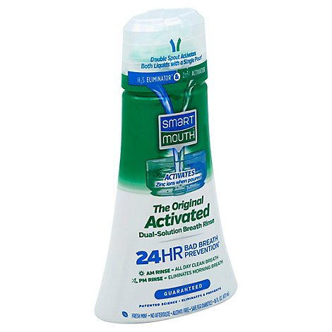 Smart Mouth Mouthwash Activated Original Clean Mint - 16 Fl. Oz.
