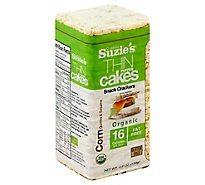 Suzies Crackers Puffed Cakes Thin Corn Quinoa & Sesame - 4.6 Oz