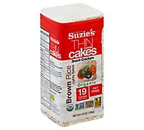 Suzies Crackers Puffed Cakes Thin Brown Rice Lightly Salted - 4.9 Oz