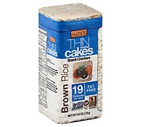 Suzies Crackers Puffed Cakes Thin Brown Rice - 4.9 Oz