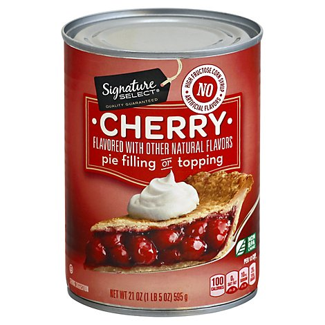 Signature SELECT Pie Filling Or Topping Cherry Light - 21 Oz