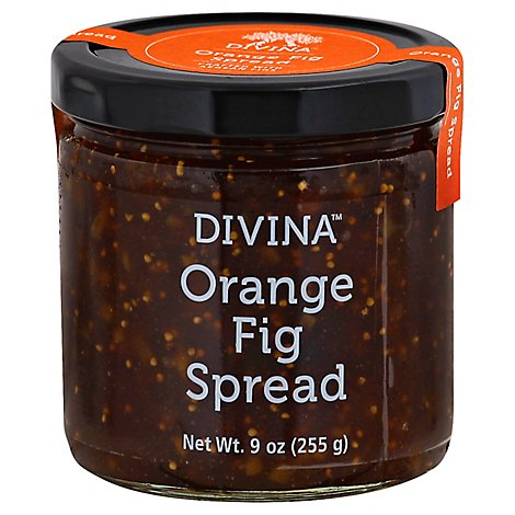 Divina Fig Orange Spread Natural Gluten Free - 9 Oz