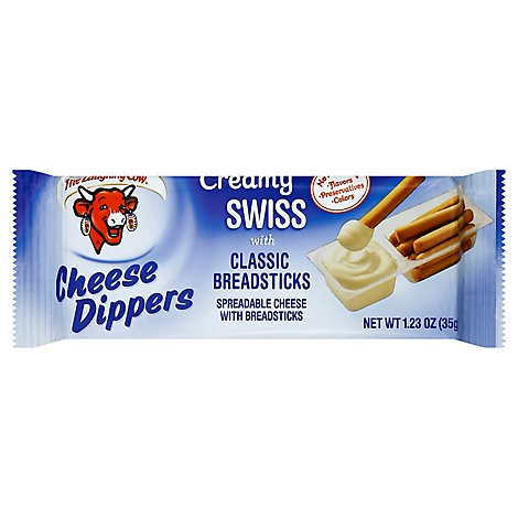 The Laughing Cow Creamy Swiss Cheese Dippers & Classic Breadsticks - 5-1.23 Oz.