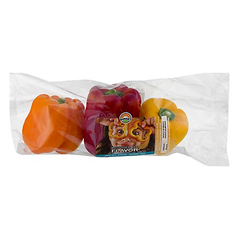 Peppers Bell Peppers Rainbow Prepacked - 3 Count